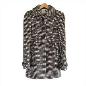 Zara TRF Black & White Wool Blend Coat